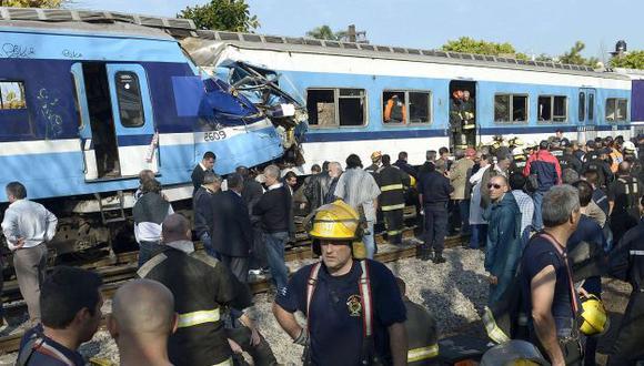 TRAGEDIA. Buenos Aires sufrió un nuevo accidente ferroviario. (AFP)