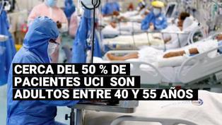 Covid-19: cerca del 50% de pacientes UCI que están en el Sabogal son adultos mayores entre 40 y 55 años