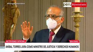 Aníbal Torres juró como ministro de Justicia y Derechos Humanos