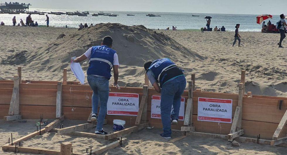 La Municipalidad de Lima paralizó obra en la playa Agua Dulce. (Foto: Municipalidad de Lima)