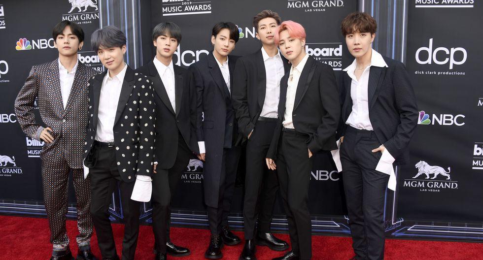 J-Hope, V, Jungkook, Jimin, Suga, Jin, and RM de BTS. (AFP)
