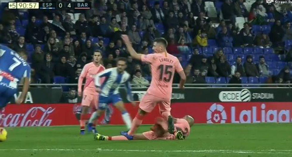 Arturo Vidal fue titular y jugó todo el partido ante Espanyol. (Captura: ESPN)