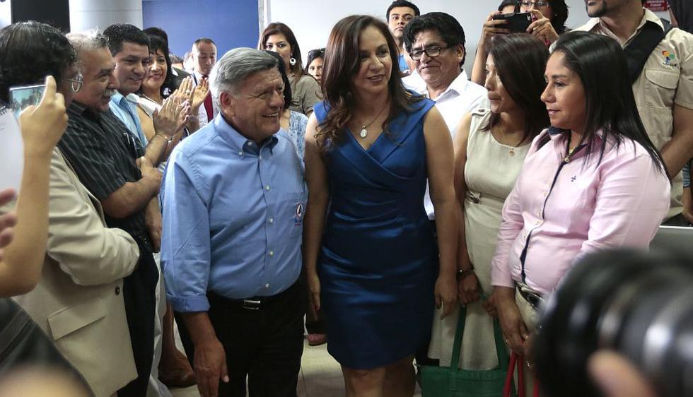 Marisol Espinoza se incorporó al partido de César Acuña. (Nancy Dueñas)