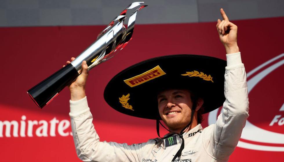 Gran Premio de México: Se corrió después de 23 años y  Nico Rosberg se coronó campeón.  (AFP)