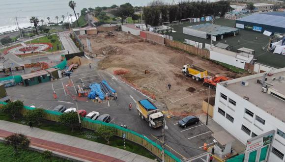 Se iniciaron los trabajos de construcción del Mercado Municipal de San Isidro. (Foto: comuna de San Isidro)