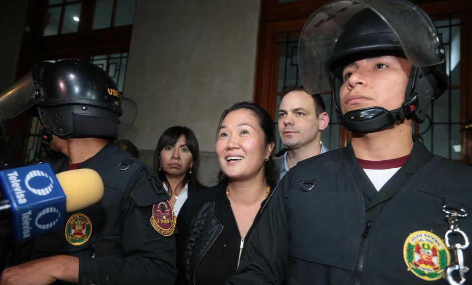 Keiko Fujimori viene cumpliendo 36 meses de prisión preventiva. (Hugo Pérez/GEC)