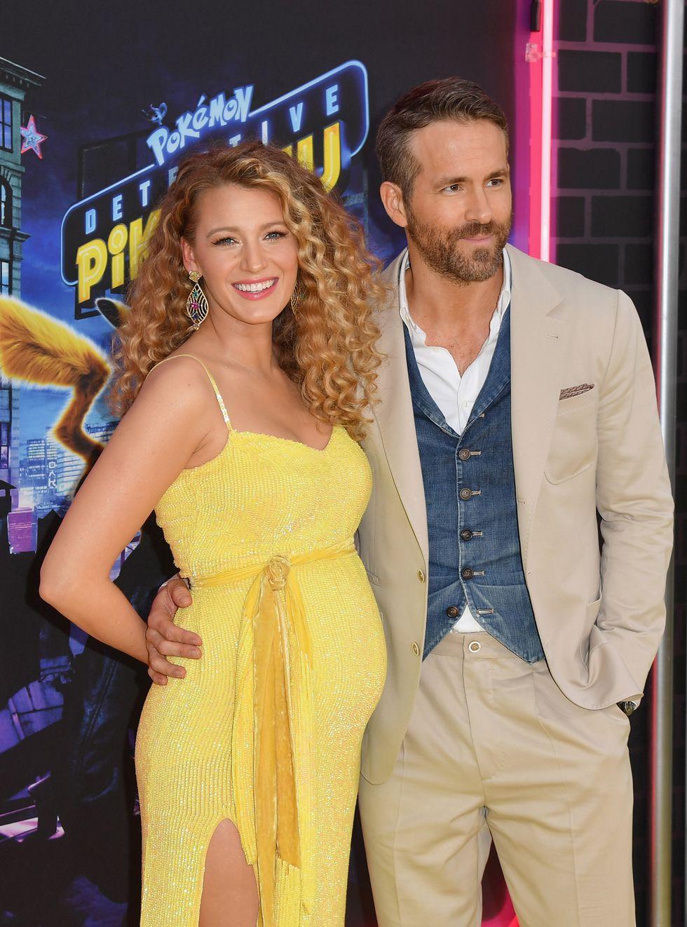 Blake Lively y Ryan Reynolds están esperando su tercer bebé. (Foto: AFP)