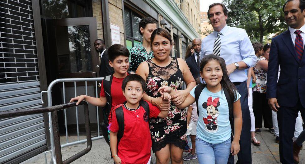 Yeni Gonzáles fue separa de sus tres hijos. (Foto: AFP)