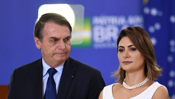 Michelle Bolsonaro anunció a través de sus redes sociales que está recuperada del nuevo coronavirus (Foto: EVARISTO SA / AFP)