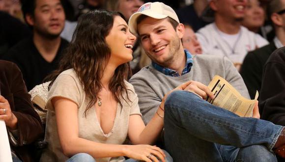 Mila Kunis y Ashton Kutcher ya se habrían casado. (AFP)