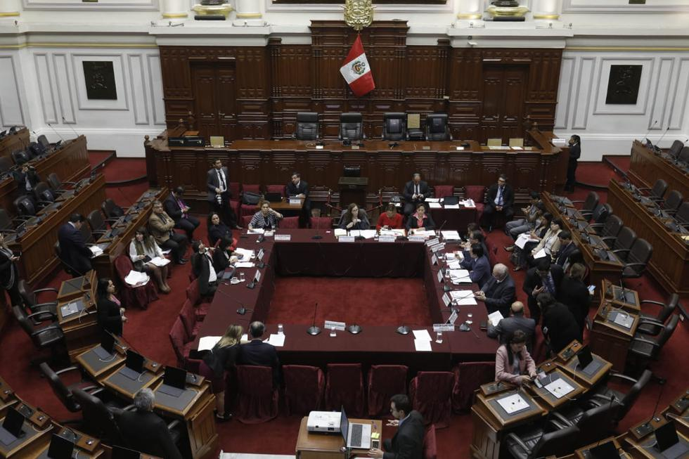 Comisión de Constitución continúa debate de proyectos de reforma política. (Foto: GEC/ Anthony Niño De Guzmán)