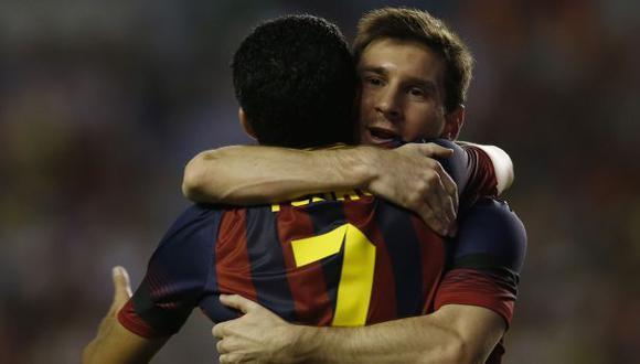 CON EL MEJOR DEL MUNDO. Messi lleva seis goles en el torneo español y es el máximo artillero. (Reuters)