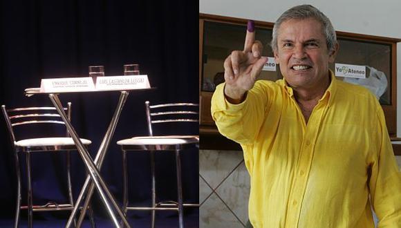 Luis Castañeda Lossio no se presentó al debate. (Martín Pauca/Perú21)