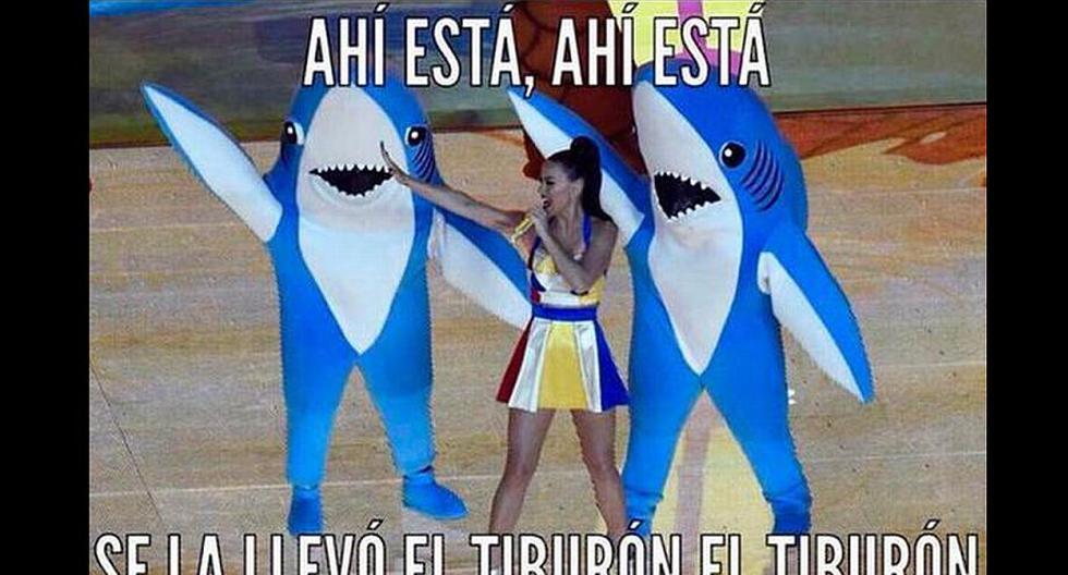 Super Bowl: Katy Perry y su colorido show en memes. (@EspectaculosMX)
