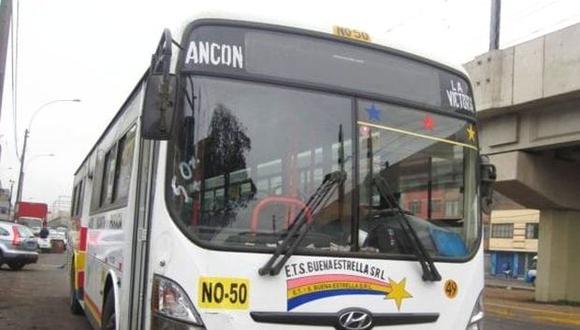 La empresa Buena Estrella cubre la ruta Ancón-La Victoria. (ATU)