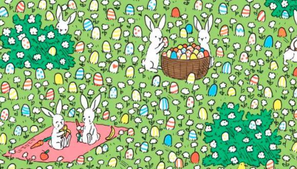 Encuentra el huevo de Pascua que se olvidaron pintar.