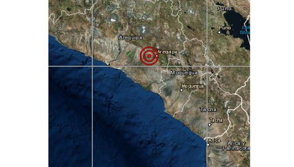 De acuerdo al IGP, el epicentro de este movimiento telúrico se registró a 16 kilómetros al sur de Yura. (Foto: IGP)