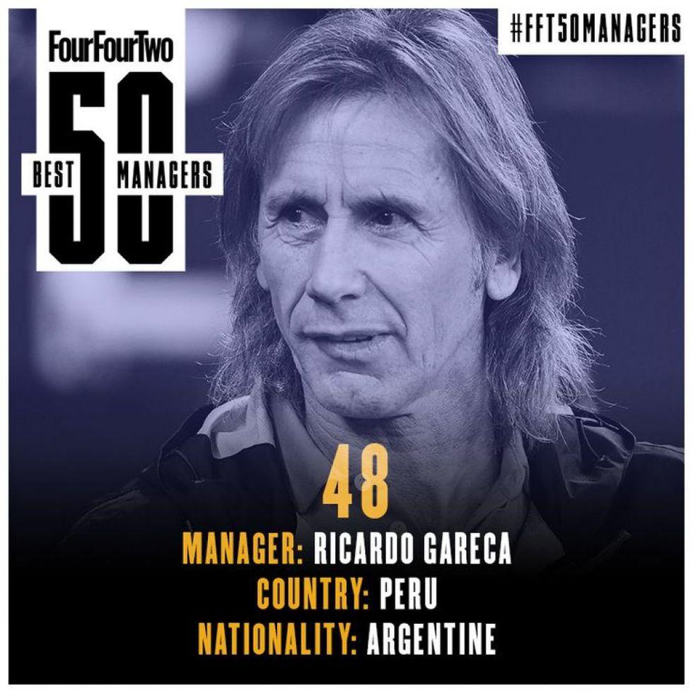 Ricardo Gareca entra en la lista de los 50 mejores técnicos del mundo según revista inglesa