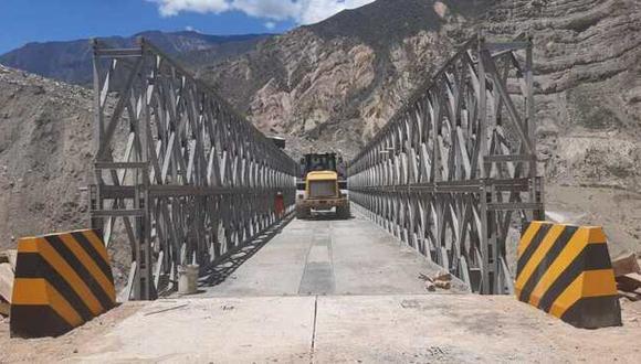 MTC instaló un nuevo puente modular que une 3 regiones del Perú (Foto: MTC)
