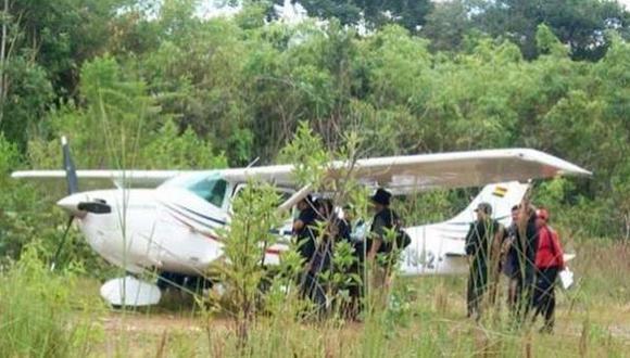 El lunes fue intervenida una avioneta boliviana en Pasco. (RPP)