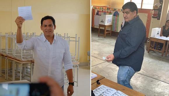 Exgobernadores de La Libertad, Luis Valdez, y de Lambayeque, Humberto Acuña, son virtuales congresistas por APP en sus respectivas regiones. (Foto: Facebook)