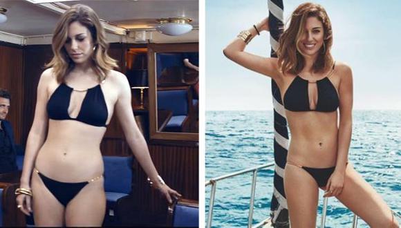 Blanca Suárez, actriz española, es la nueva víctima del Photoshop. (Women's Secret)