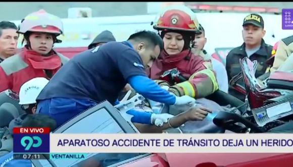 El suboficial Silver Orihuela Aguilar está grave. (Foto: Captura/Latina)