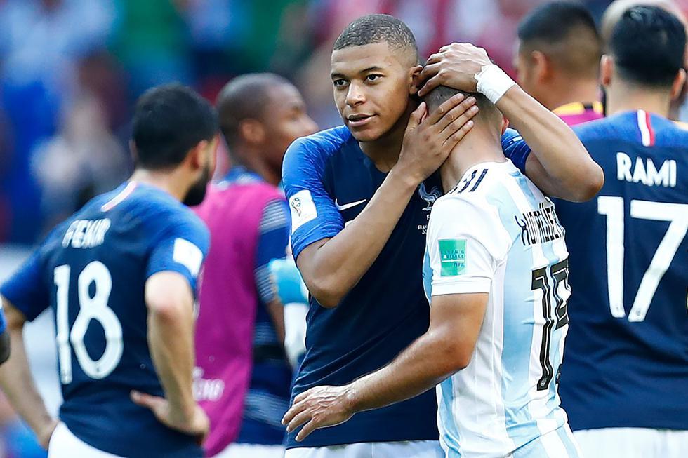 Francia se convirtió en el primer equipo clasificado a los cuartos de final de Rusia 2018. (AFP)