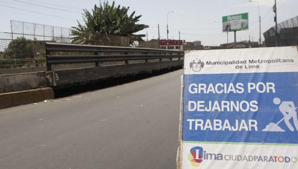 SEGURIDAD. Se aplica un plan de desvíos para evitar eventuales accidentes en la zona. (Rodrigo Málaga)