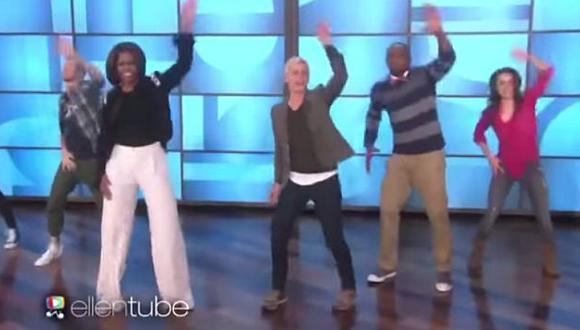 Michelle Obama bailó con Ellen DeGeneres. (YouTube)