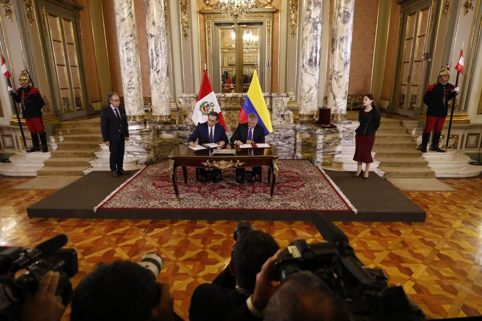 Presidentes firmaron declaración en el Salón Dorado de Palacio de Gobierno (Piko Tamashiro/GEC).