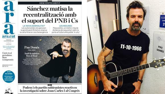 Pau Donés falleció tras una dura lucha contra el cáncer de colon. (Foto: Ara.cat / Instagram)