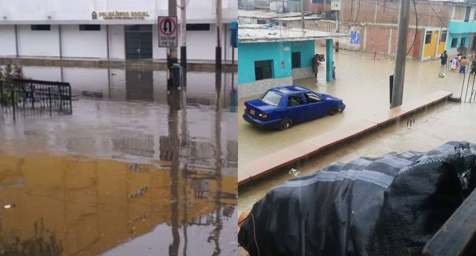 Senamhi informó que la intensa lluvia se registró a las 4 a. m. y duró alrededor de una hora.