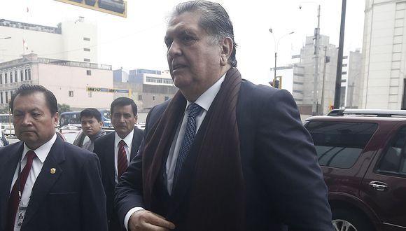 El ex presidente Alan García se presentará a la fiscalía para brindar detalles por denuncia que realizó. (Foto: GEC)