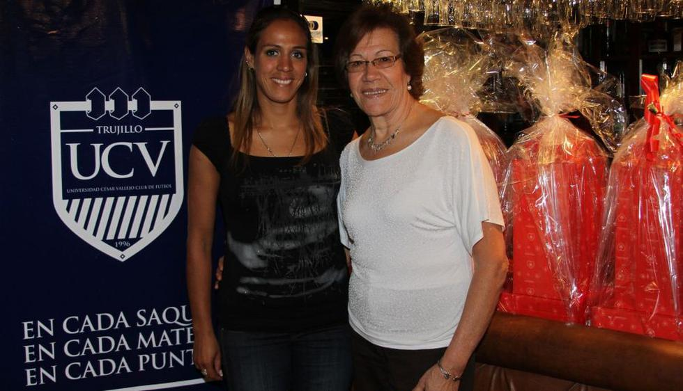 Milagros Moy y su madre Isabel Alvarado de Moy. (Difusión)