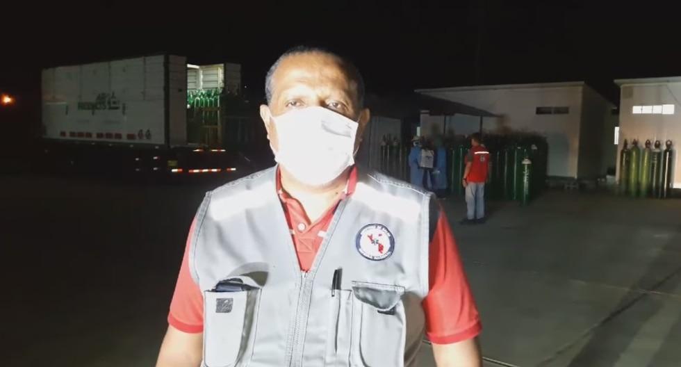 El director regional de Salud de Tumbes pidió a la población que se sienta tranquila pues si hay dotación de oxígeno. (Foto: Diresa Áncash)