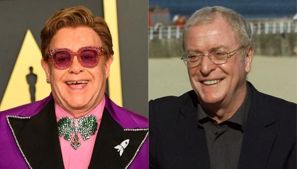 Reino Unido apuesta por Elton John y Michael Caine para convencer a los mayores de que se vacunen contra el COVID-19. (Foto: AFP)