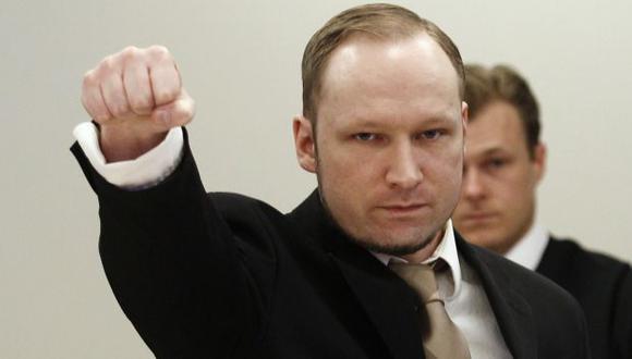 Anders Behring Breivik durante el juicio en su contra. (Reuters)