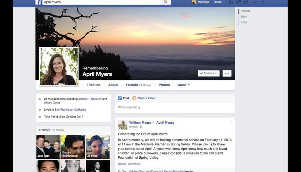 Tu contacto de legado podrá manejar tu cuenta desde la suya. (Facebook)