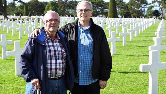 André Gantois, un francés de 72 años, y Allen Henderson, un estadounidense de 64. | Foto: AFP
