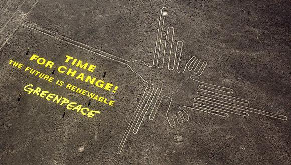 Greenpeace causó daños a las Líneas de Nasca. (AP)