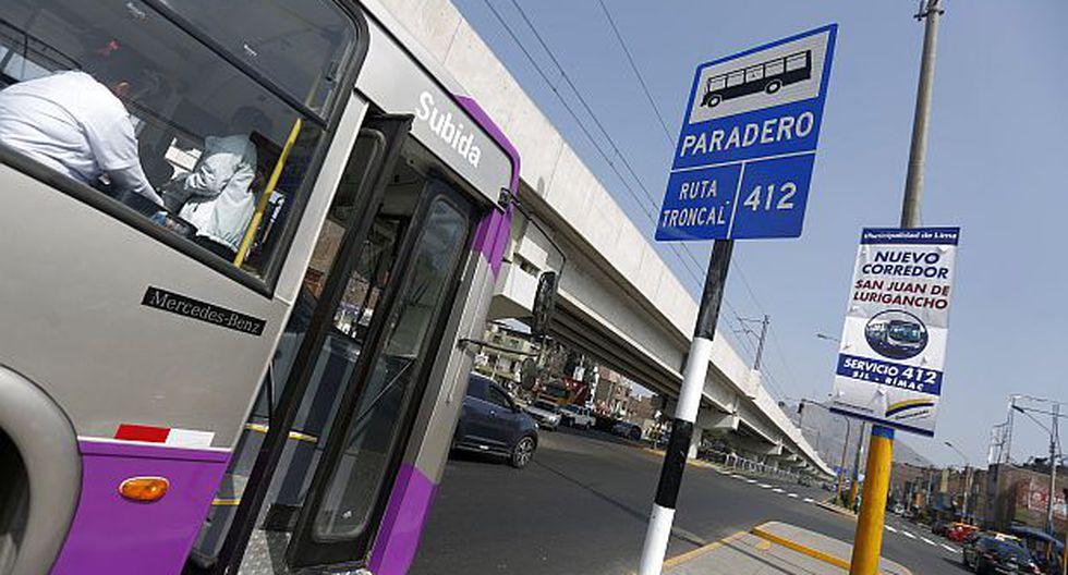 El nuevo servicio del Corredor Morado es para los usuarios que buscan desplazarse entre San Juan de Lurigancho y el Cercado de Lima. (Foto: GEC)