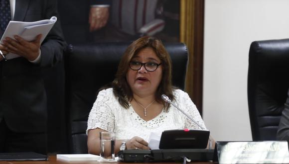 """Janet Sánchez consideró que la acusación contra Castro """"afecta la imagen de todos los parlamentarios"""". (Foto: GEC)"""