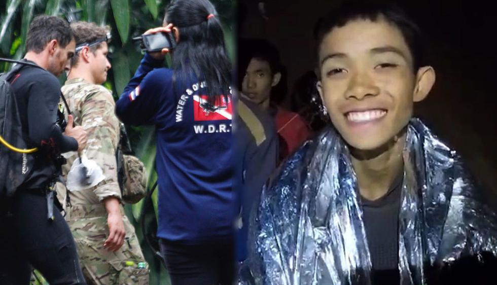 Después de 12 días, encontraron a los niños junto a su entrenador bloqueados en una cueva de Tailandia. (Foto: EFE)
