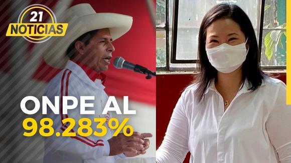 Resultados de la ONPE al 98.28%