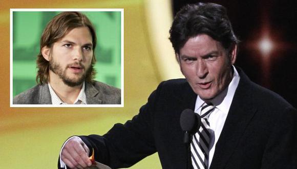 Charlie Sheen arremete contra Ashton Kutcher. (Agencias)