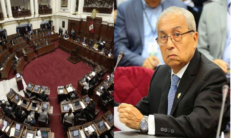 Por 13 votos en contra y 12 a favor, el Congreso de la República blindó a exfiscal de la Nación, Pedro Chávarry. (Composición)