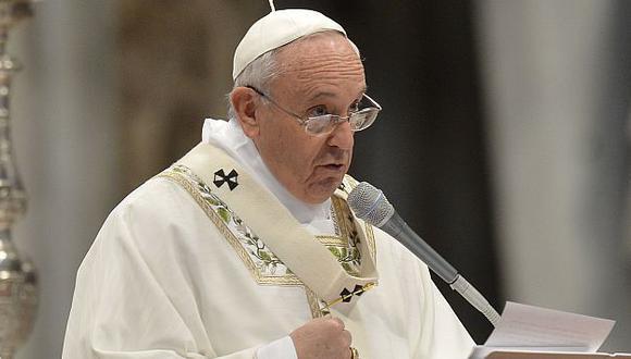 Papa Francisco habló sobre los sacerdotes en la homilia del Jueves Santo. (AFP)