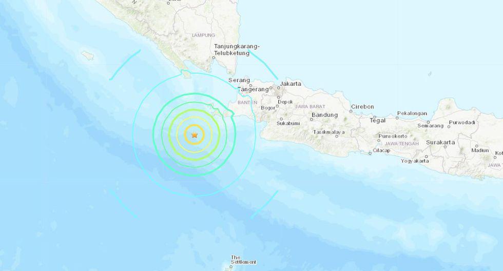 Indonesia emite alerta de tsunami tras fuerte sismo de magnitud 7 en Sumatra. (Foto: USGS)