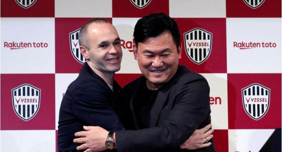 "Hiroshi Mikitani, el dueño del equipo, calificó al español de jugador de ""clase mundial"". (Reuters)"